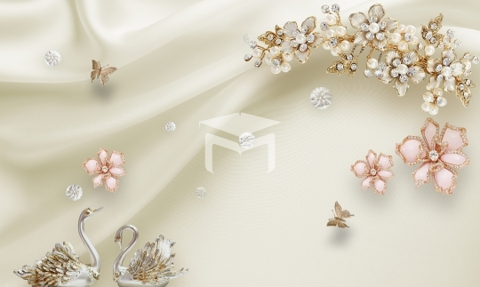 3d gold flower absract wallpaper